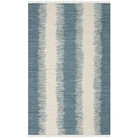 Safavieh Hand-woven Montauk Blue Cotton Rug - 5' x 8'