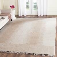 Safavieh Hand-woven Montauk Brown/ Beige Cotton Rug - 4' x 6'