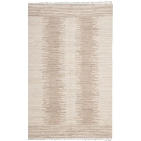 Safavieh Hand-woven Montauk Brown/ Beige Cotton Rug (8' x 10')