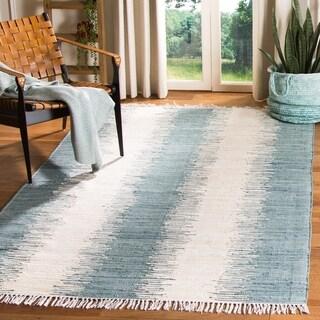 Safavieh Hand-woven Montauk Grey Cotton Rug (2'3 x 7')