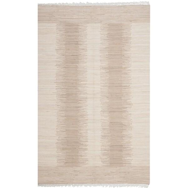 """Safavieh Hand-woven Montauk Brown/ Beige Cotton Rug - 2'6"""" x 4'"""
