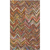 Safavieh Handmade Nantucket Abstract Chevron Multi Cotton Rug - 2' x 3'