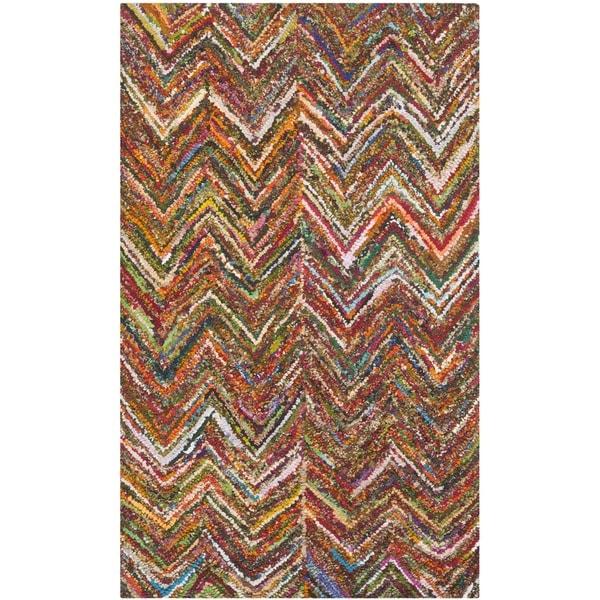Safavieh Handmade Nantucket Abstract Chevron Multi Cotton Rug (2' x 3')