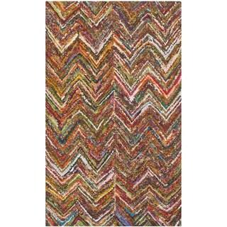 Safavieh Handmade Nantucket Abstract Chevron Multi Cotton Rug (2' 3 x 4')
