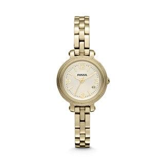 Fossil Women's 'Heather' Mini Stainless Steel Goldtone Watch