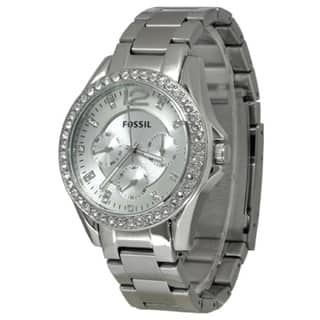 Fossil Women's ES3202 'Riley' Stainless Steel Crystal Accented Watch https://ak1.ostkcdn.com/images/products/7886535/P15268612.jpg?impolicy=medium