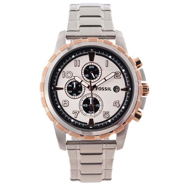 Fossil Men's 'Dean' Stainless Steel Chronograph Date Watch