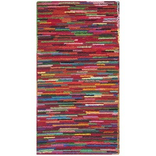 Safavieh Handmade Nantucket Abstract Pink/ Multi Cotton Rug (2' x 3')