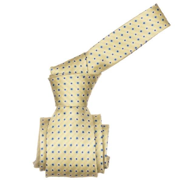 Republic Men's Yellow Dotted Microfiber Neck Tie