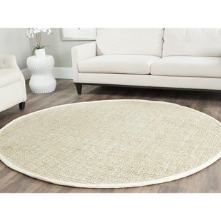 Safavieh Casual Natural Fiber Hand-loomed Sisal Style Ivory Jute Rug (7' x 7' Round)