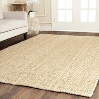 Safavieh Casual Natural Fiber Hand-loomed Sisal Style Ivory Jute Rug - 7' Square