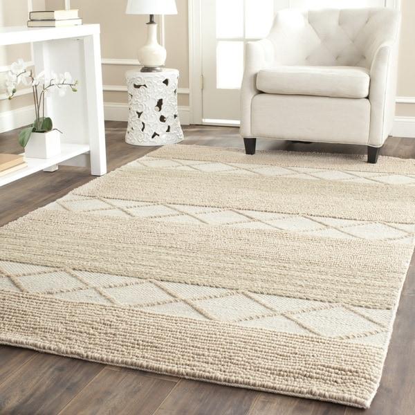 safavieh handmade natura beige wool rug (4' x 6') - free shipping