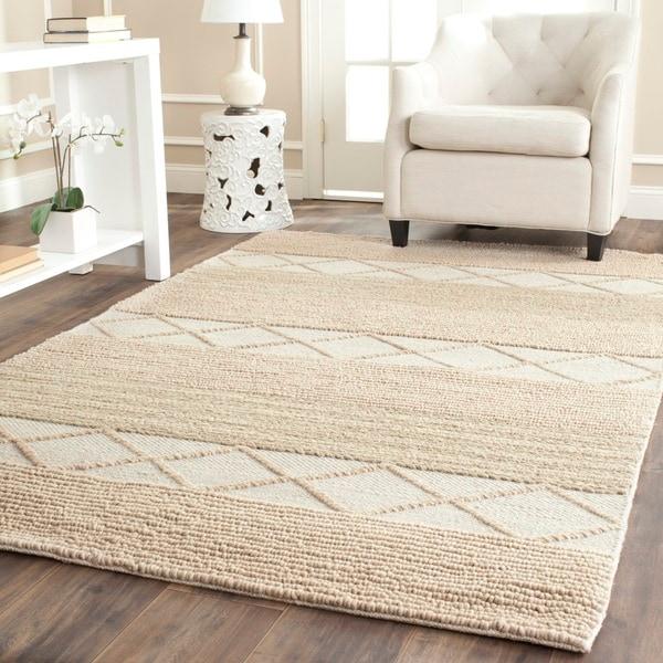 Safavieh Handmade Natura Beige Wool Rug - 8' x 10'