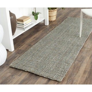 Safavieh Casual Natural Fiber Hand-loomed Sisal Style Grey Jute Rug (2'3 x 7')