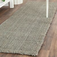 Safavieh Casual Natural Fiber Hand-loomed Sisal Style Grey Jute Rug - 2'3 x 9'