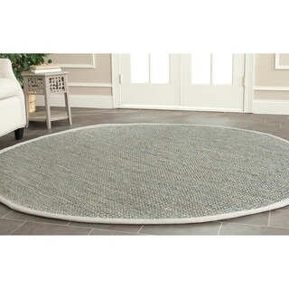 Safavieh Casual Natural Fiber Hand-loomed Sisal Style Grey Jute Rug (7' x 7' Round)