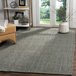 safavieh casual natural fiber handloomed sisal style grey jute rug 6u0027 x