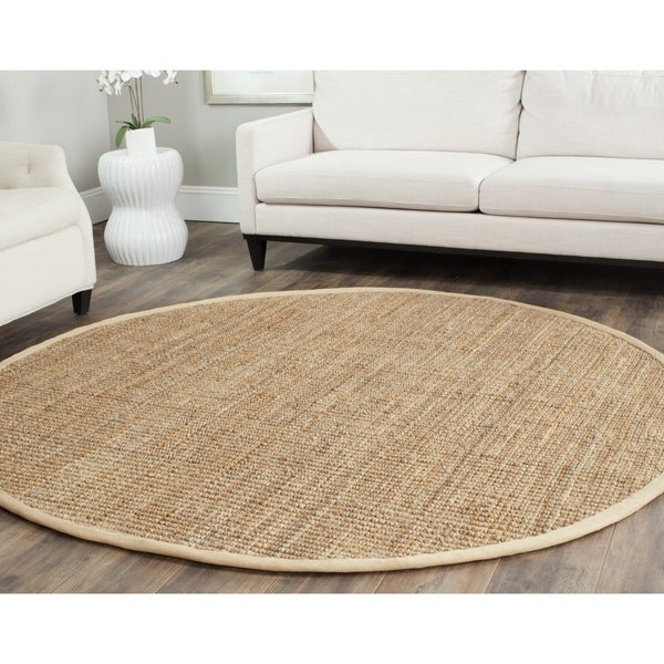 safavieh casual natural fiber handloomed sisal style natural jute, 7 ft round jute rug, 7 round jute rug