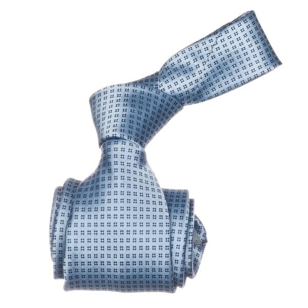 Republic Men's Blue Patterned Microfiber Neck Tie
