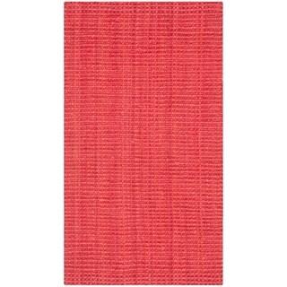 Safavieh Casual Natural Fiber Hand-loomed Sisal Style Red Jute Rug - 2'3' x 4'