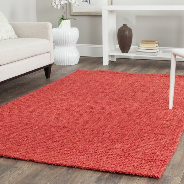 Safavieh Casual Natural Fiber Hand-loomed Sisal Style Red Jute Rug (8' x 10')