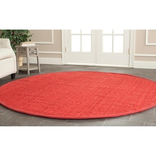 Safavieh Casual Natural Fiber Hand-loomed Sisal Style Red Jute Rug (7' x 7' Round)