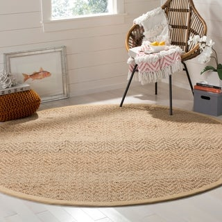Safavieh Casual Natural Fiber Hand-loomed Sisal Style Natural Jute Rug (7' x 7' Round)