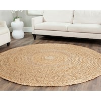 Safavieh Casual Natural Fiber Hand-loomed Sisal Style Natural Jute Rug - 7' x 7' Round