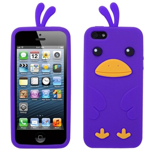 INSTEN Purple Chick Phone Case Cover for Apple iPhone 5