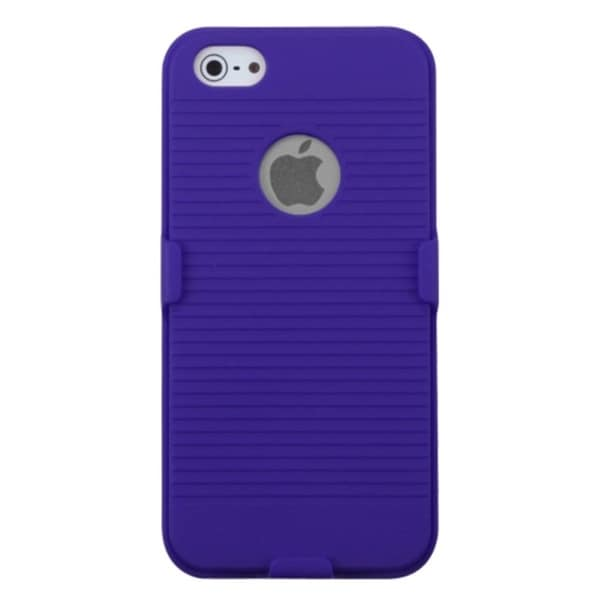 INSTEN Blue Hybrid Holster Phone Case Cover for Apple iPhone 5