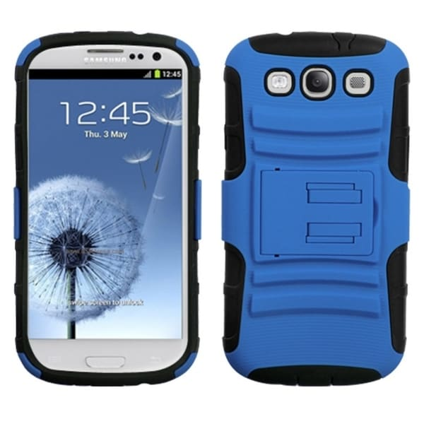 ASMYNA Blue/ Black Armor Case for Samsung Galaxy S III/ S3