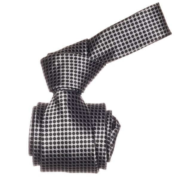 Republic Men's Black and Silver Dotted Microfiber Neck Tie