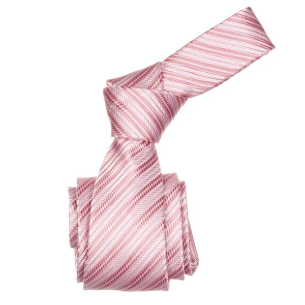 Republic Men's Pink Striped Microfiber Neck Tie