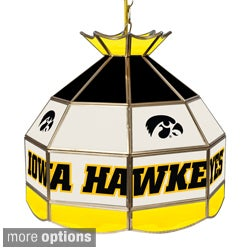 Collegiate Teams Stained Glass 16-inch Tiffany-style Lamp