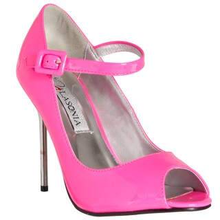 Riverberry Women's Fuchsia Mary Jane-style Heels