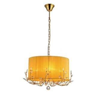 Bathroom chandeliers for less overstock warehouse of tiffany hebe yellow orange crystal chandelier aloadofball Gallery