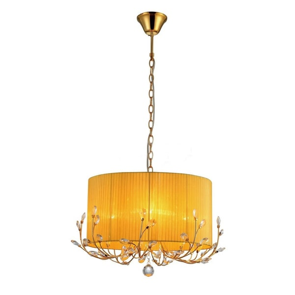 8ae15198c1 Warehouse of Tiffany Hebe Yellow/ Orange Crystal Chandelier