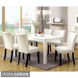 Furniture of America Davao High Gloss Lacquer Contemporary 60-inch Dining Table