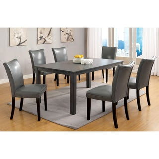 Furniture of America Belton Gray 60-inch Contemporary Rectangular Dining Table