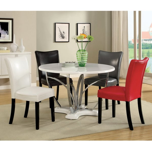 High Round Dining Table: Shop Furniture Of America 'Zelby' 48-inch Round High-gloss