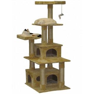 Go Pet Club Beige 67-inch Cat Tree Condo