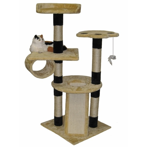Go Pet Club Cat Tree Beige 52 in.