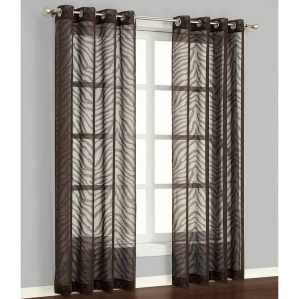 Shop Zambia Chocolate 84 Inch Curtain Panel Pair
