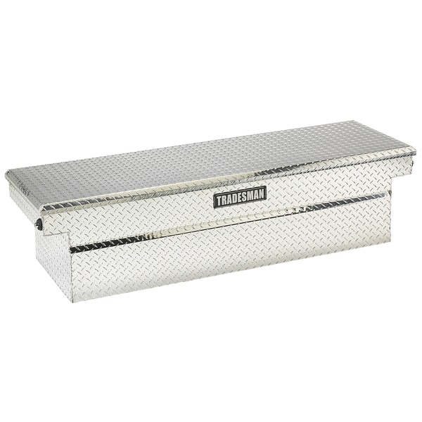72-Inch Silver Aluminum Push Button Cross Bed Truck Tool Box