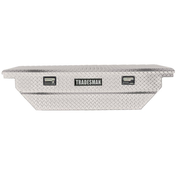 63 Inch Silver Low Profile Aluminum Cross Bed Truck Tool Box
