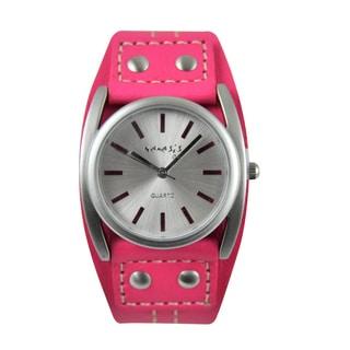 Nemesis Women's Pink Leather Strap Watch