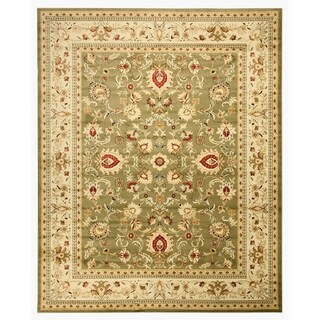 Green Traditional Oriental Green Mahal Rug (2'7 x 9'10)