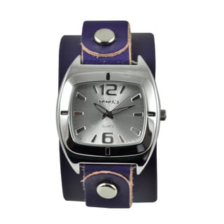 Nemesis Women's Retro Vintage Purple Leather Strap Watch