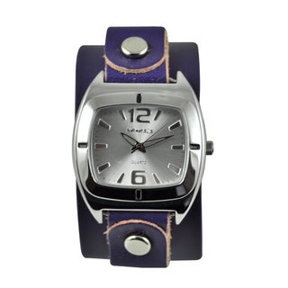 Nemesis Women's Retro Vintage Purple Leather Strap Watch