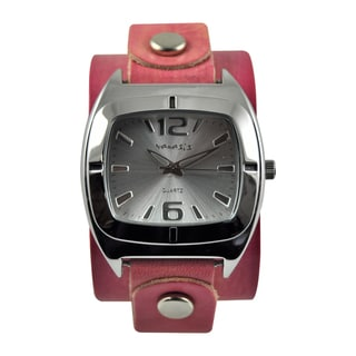 Nemesis Women's Retro Pink Leather Band Watch